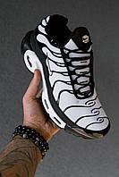 Кроссовки мужсие Nike Tn White|Black (найк тн белые)