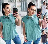 Р 42-56 Натуральная летняя блузка 21852, фото 1