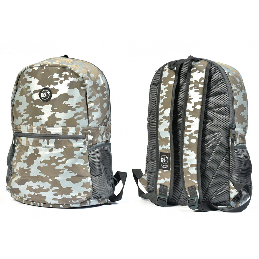 "Рюкзак молодежный YES R-09 ""Сompact Reflective"" милитари коричневый"