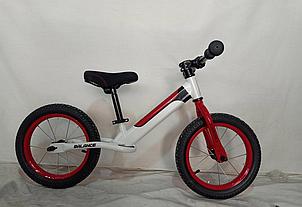 Детский беговел-велобег 14 дюймов Crosser Balance bike Air  JK-07 белый