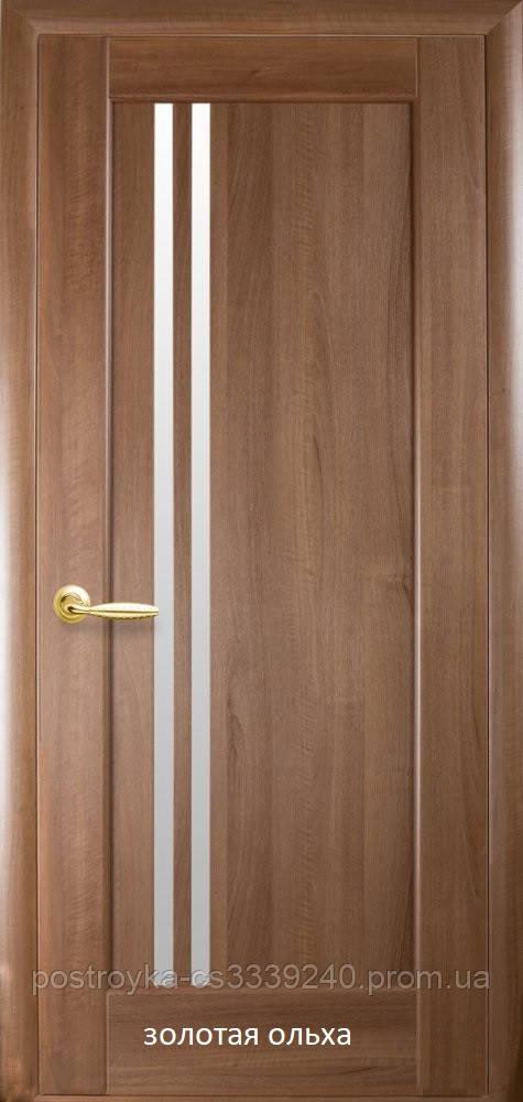 Двери межкомнатные Ностра Делла Новый Стиль ПВХ со стеклом сатин 60, 70, 80, 90