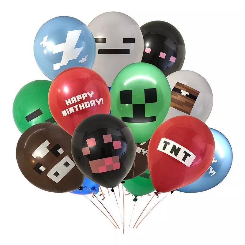 """Майнкрафт воздушные шары, ассорти 12""""(30 см) 8 шт."""