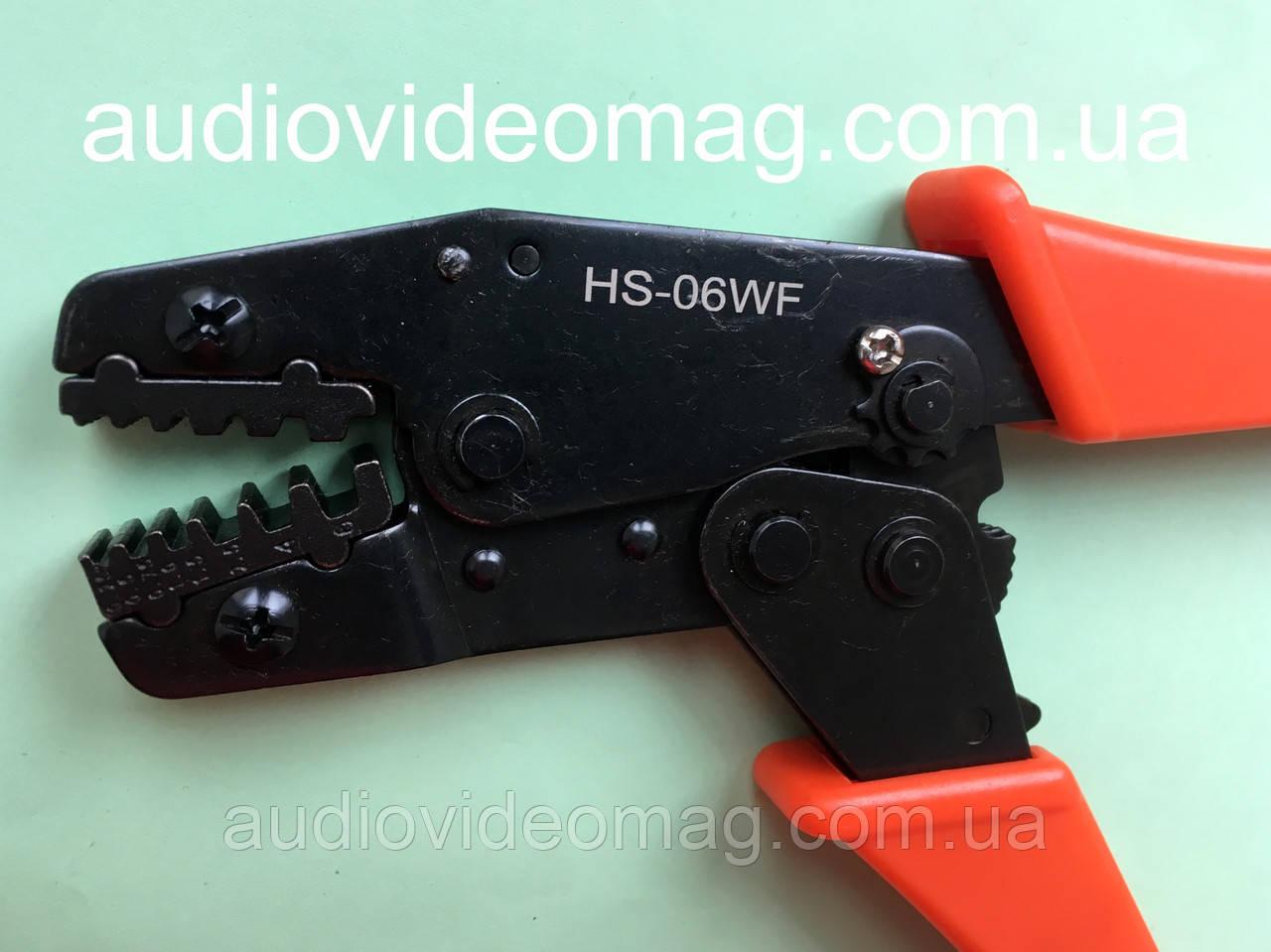 Инструмент обжимной (обжимка) HS-06WF для втулочных наконечников и гильз от 0.25 до 6 мм²