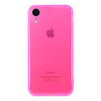 Чехол накладка xCase на iPhone XR Transparent Rose red