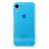 Чехол накладка xCase на iPhone XR Transparent Blue