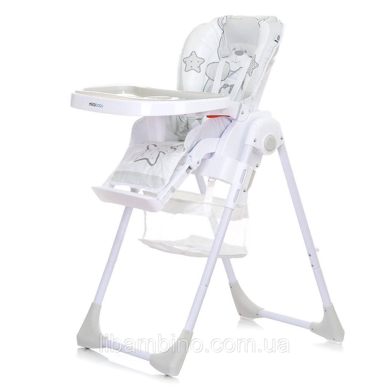 Дитячий універсальний стільчик для годування Mioobaby Teddy  - White