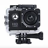 Экшн камера А7 Sport Full HD 1080P. Аналог GoPro gopro. аквабокс, FullHD, крепление на шлем, Видеорегистратор, фото 6