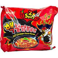 Лапша рамен с курицей Samyang самая острая 2x spicy 140г