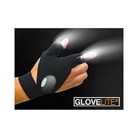 Перчатки с подсветкой hand-free light W-47 Черный