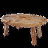 Столик для вина на ножках 35х18 см. из ясеня или черешни НМ-125, фото 4