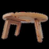 Столик для вина на ножках 35х18 см. из ясеня или черешни НМ-125, фото 3