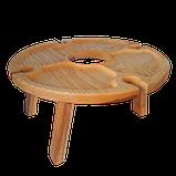 Столик для вина на ножках 35х18 см. из ясеня или черешни НМ-125, фото 5