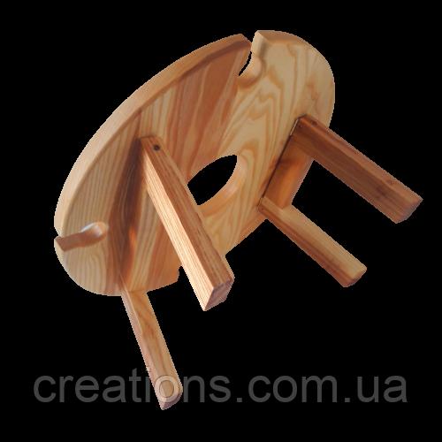 Столик для вина на ножках 35х18 см. из ясеня или черешни НМ-125