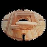 Столик для вина на ножках 35х18 см. из ясеня или черешни НМ-125, фото 7