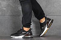 Кроссовки мужские летние Nike Air Max 270 Black White в стиле Найк 270 черные-белые, белая подошва, реплика