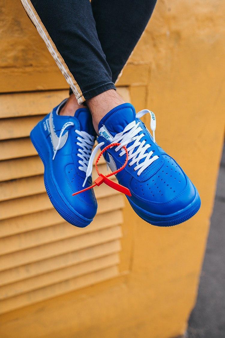 Кроссовки мужские Nike Air Force 1 Low Off-White MCA University Blue