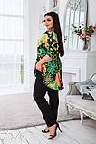 Летний костюм блузка и брюки лён полированный размер 50-52,54-56,58-60, фото 2