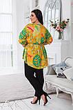 Летний костюм блузка и брюки лён полированный размер 50-52,54-56,58-60, фото 4