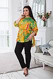 Летний костюм блузка и брюки лён полированный размер 50-52,54-56,58-60, фото 5