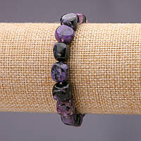 Браслет из натурального камня Чароит галтовка d-8х10(+-)мм на резинке обхват 18см