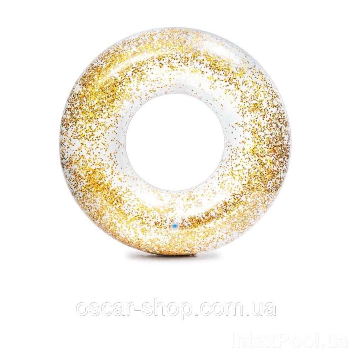 Надувной круг Intex  «Золотой блеск», 119 см, золотой