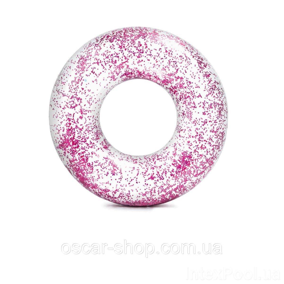 Надувной круг Intex  «Розовый блеск», 119 см, золотой
