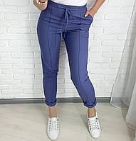 Женские брюки лён мокко чёрный джинс 42 44 46 48 50 52