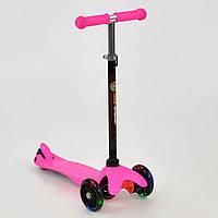Самокат детский трехколесный Scooter Mini 466-112 розовый