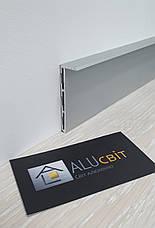 Плинтус  алюминиевый скрытого монтажа 53 мм анодированный, фото 3