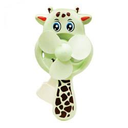 Ручной вентилятор Жираф, мятный  sco