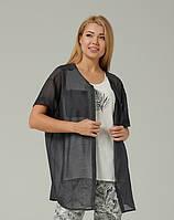 Женский комплект блуза-топ и рубашка-кардиган Lesia Нейв летний легкий натуральный вискозный