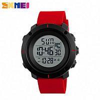 Часы спортивные SKMEI 1212 Black Red 44mm Quartz 5 ATM (МОЖНО ПЛАВАТЬ!)