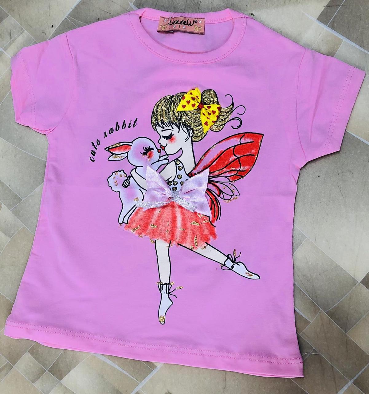 Детская футболка для девочки Фея р. 1-4 лет розовая