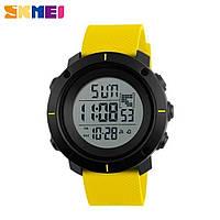 Часы спортивные SKMEI 1212 Black Yellow 44mm Quartz 5 ATM (МОЖНО ПЛАВАТЬ!)