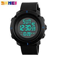 Часы спортивные SKMEI 1213 Black Blue 50mm Quartz 5 ATM (МОЖНО ПЛАВАТЬ!)