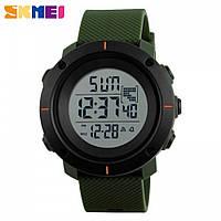 Часы спортивные SKMEI 1213 Black Green 50mm Quartz 5 ATM (МОЖНО ПЛАВАТЬ!)