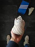 Кросівки чоловічі Adidas Yeezy Boost 500 Бежеві, фото 3