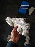 Кросівки чоловічі Adidas Yeezy Boost 500 Бежеві, фото 4
