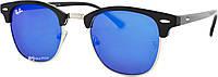 Солнцезащитные очки Ray Ban Clubmaster 3016 60 14-130 C5 синие (реплика)