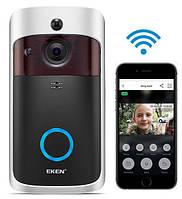 Беспроводной видеозвонок с датчиком движения и WI-FI Eken V5 Black
