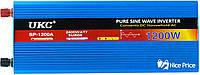 Преобразователь напряжения(инвертор) UKC 12-220V 1200W с чистой синусоидой (4138)