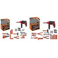 Набор инструментов KY1068-111DF шуруповерт,плоскогубцы,молоток,отвертка,2вида,кор,28-38-10см