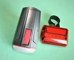Велосипедный фонарь со стопом XBalog BL-808 с креплением, набор