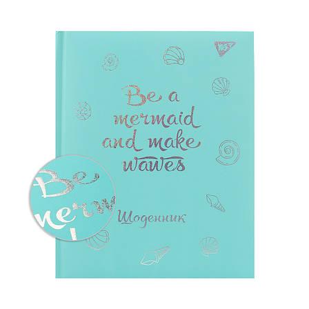 """Дневник школьный YES жесткий  """"Mermaid"""", soft touch, голограф. Фольга                     , фото 2"""