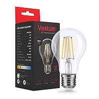 LED лампа филамент  Vestum  / A-60  / 5,5 w / 3000k /  Classic  ( STANDARD )  Clear