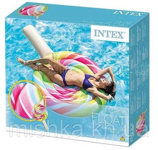 """Надувной плотик Intex """"Леденец"""", 208 на 135 см"""