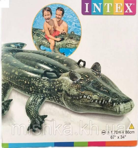 """Детский надувной плотик Intex """"Крокодил"""", 86 на 170 см"""