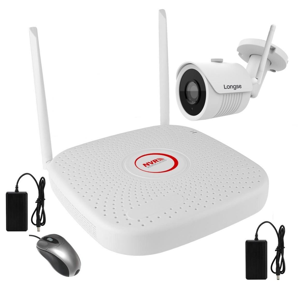 Комплект бездротового WiFi відеоспостереження на 1 камеру 1 Мп на 300 метрів LONGSE WIFI2004PG1S100-1