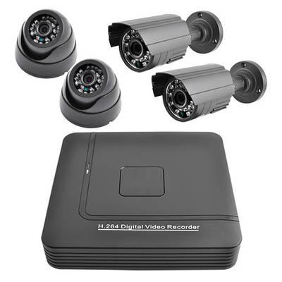 Комплект відеоспостереження KN001004DP Сірий (30-SAN254)