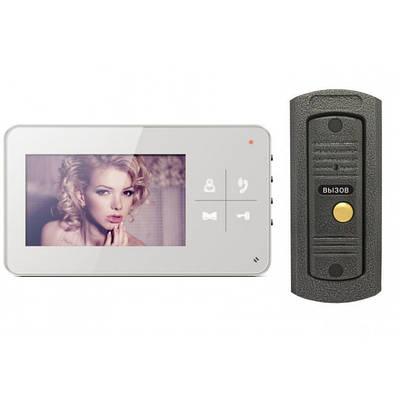 Комплект видеодомофона Qualvision и Вызывная панель антивандальная из цинкового сплава Qualvision (RN 493)
